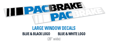 2ft Pacbrake Window Decals