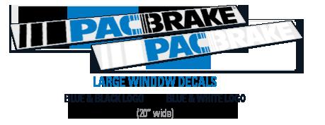 2ft Pacbrake Window Decals
